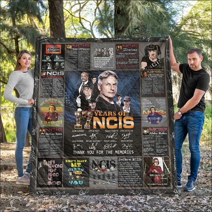 17 Years Of Ncis Actors Signature Thank You For The Memories For Fan Quilt Blanket quilt blanket