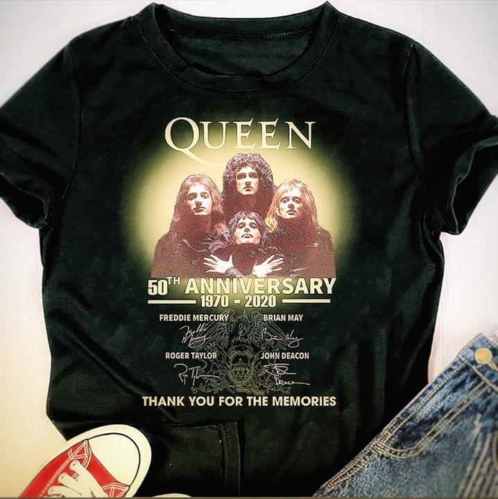 Queen 50th Anniversary All Members Signed For Fan cotton t-shirt Hoodie Mug