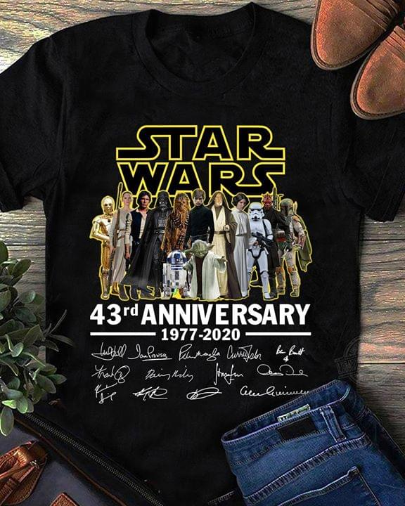 Star Wars All Characters Signed 43rd Anniversary For Fan cotton t-shirt Hoodie Mug
