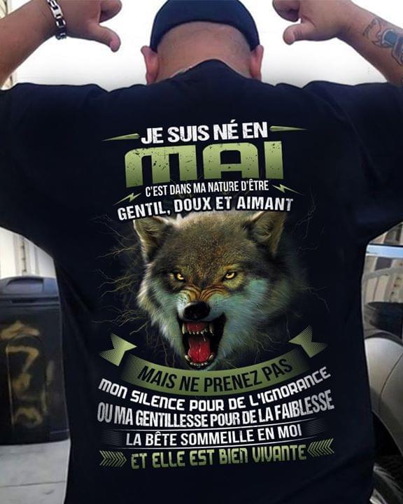Je Suis Ne En Mai Cest Dans Ma Nature Detre Gentil Doux Et Aimant cotton t-shirt Hoodie Mug