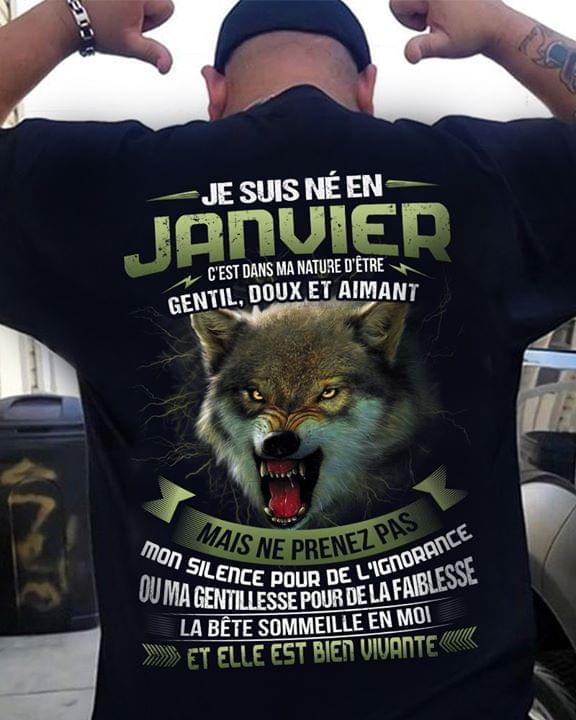 Je Suis Ne En Janvier Cest Dans Ma Nature Detre Gentil Doux Et Aimant cotton t-shirt Hoodie Mug