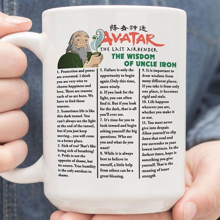 Avatar The Last Airbender The Wisdom Of Uncle Iroh cotton t-shirt Hoodie Mug