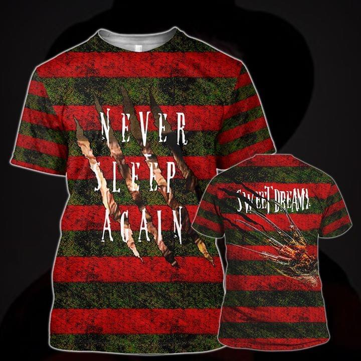 Freddy Krueger Never Sleep Again Sweet Dream Horror Film For Fan 3d Printed 3d shirt hoodie sweatshirt