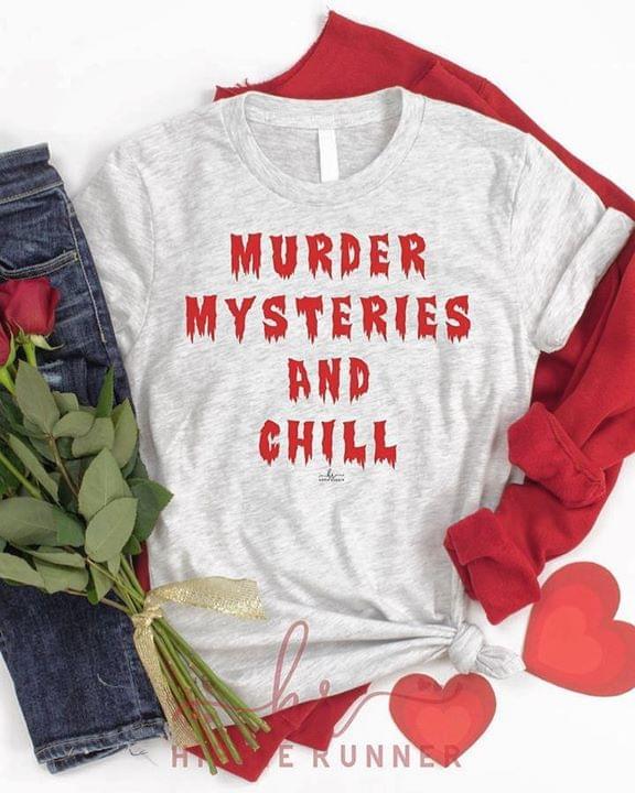 Murder Mysteries And Chill Halloween cotton t-shirt Hoodie Mug