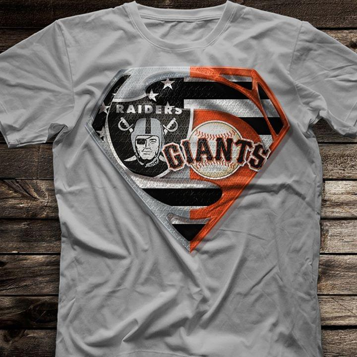 Superman Logo Oakland Raiders Mashup San Francisco Giants cotton t-shirt Hoodie Mug