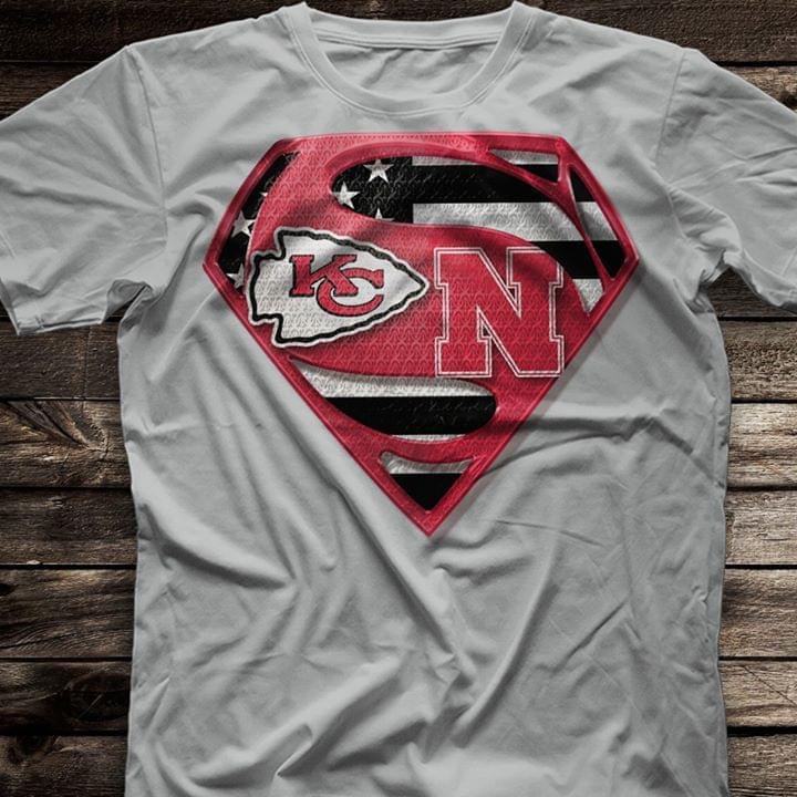 Superman Logo Kansas City Chiefs cotton t-shirt Hoodie Mug