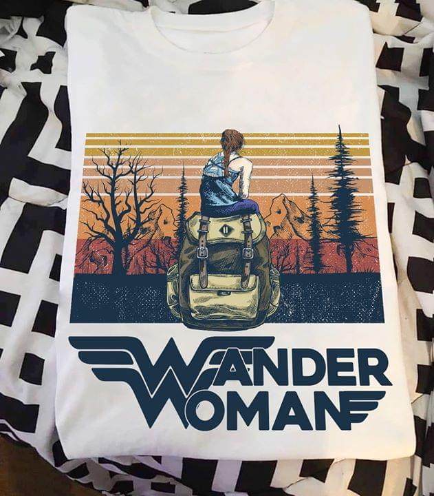 Wander Woman Wonder Woman Style For Travelling Lover Vintage cotton t-shirt Hoodie Mug