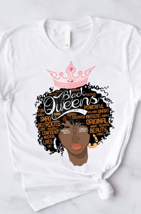 Black Queens Original Beauty Powerful Smart Confident cotton t-shirt Hoodie Mug