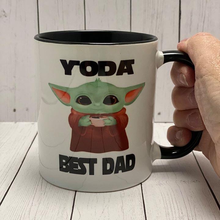 Star Wars Master Yoda Best Dad Mug cotton t-shirt Hoodie Mug