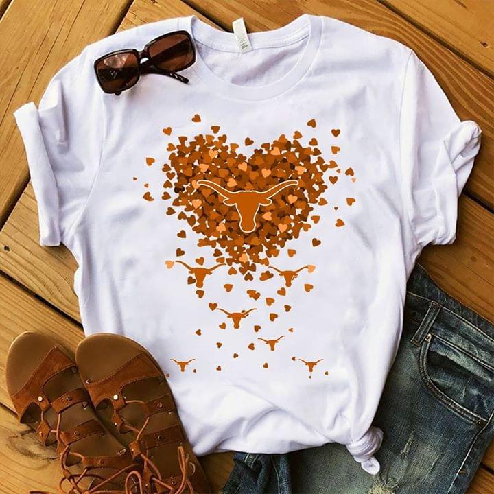 Texas Longhorns Hearts cotton t-shirt Hoodie Mug