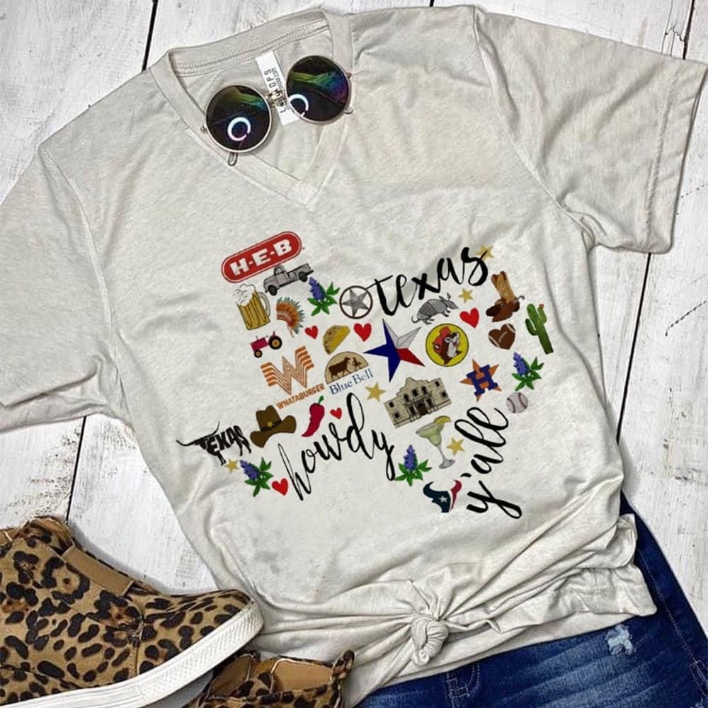 Texas Howdy Yall Lover cotton t-shirt Hoodie Mug