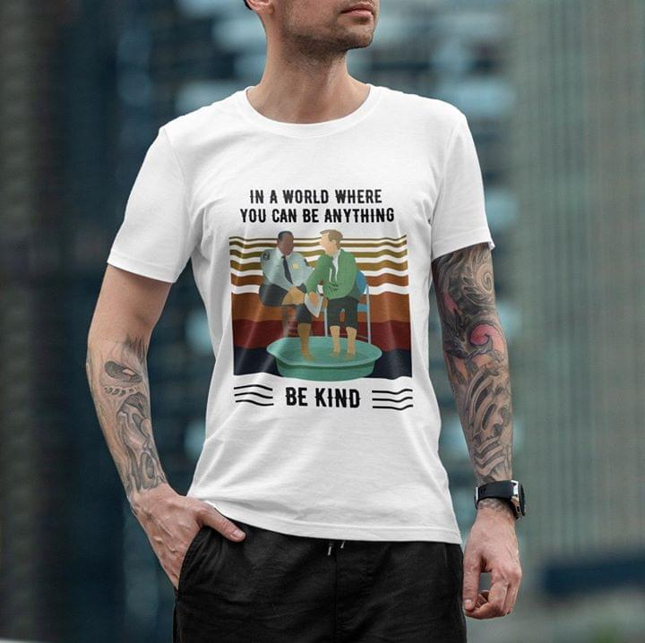 Mister Rogers Gay Talk In A World Where You Can Be Anything Be Kind Vintage T Shirt cotton t-shirt Hoodie Mug