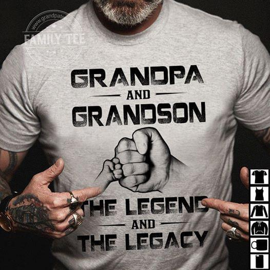 Grandpa And Grandson The Legend And The Legacy cotton t-shirt Hoodie Mug