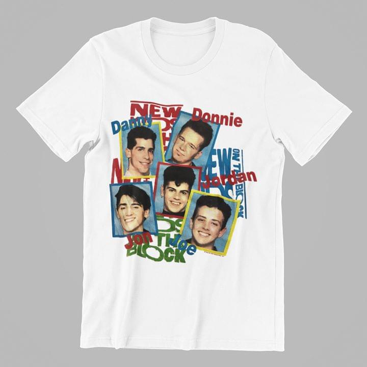 New Kids On The Block Danny Donnie Jordan Jon Joe Pictures T Shirt cotton t-shirt Hoodie Mug