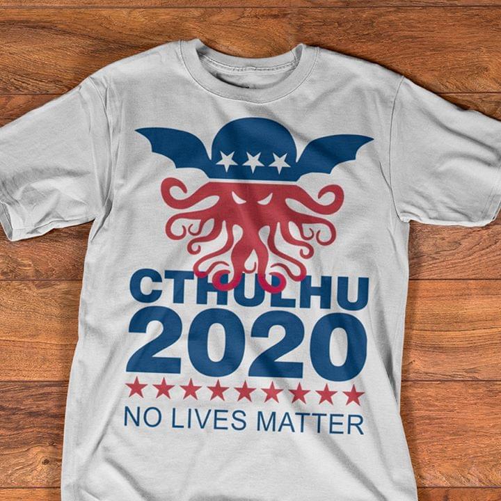 Cthulhu 2020 No Lives Matter T Shirt cotton t-shirt Hoodie Mug