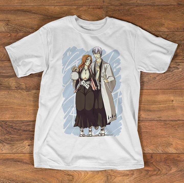 Bleach Manga Gin Ichimaru And Rangiku Matsumoto Ginran Couple For Fan cotton t-shirt Hoodie Mug