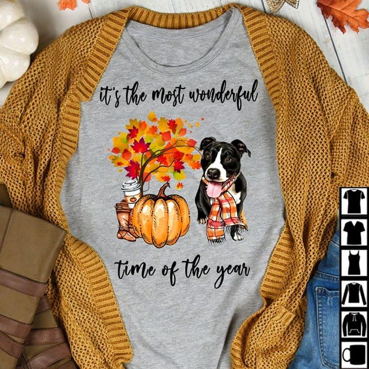 Its The Most Wonderful Time Of The Year Pitbull cotton t-shirt Hoodie Mug