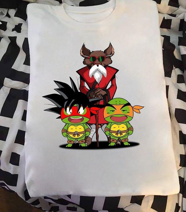 Dragon Ball X Ninja Turtle Goku Krilin Master Roshi cotton t-shirt Hoodie Mug