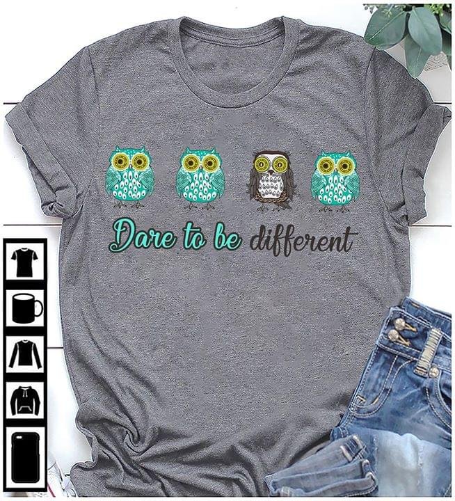 Owl Dare To Be Different cotton t-shirt Hoodie Mug