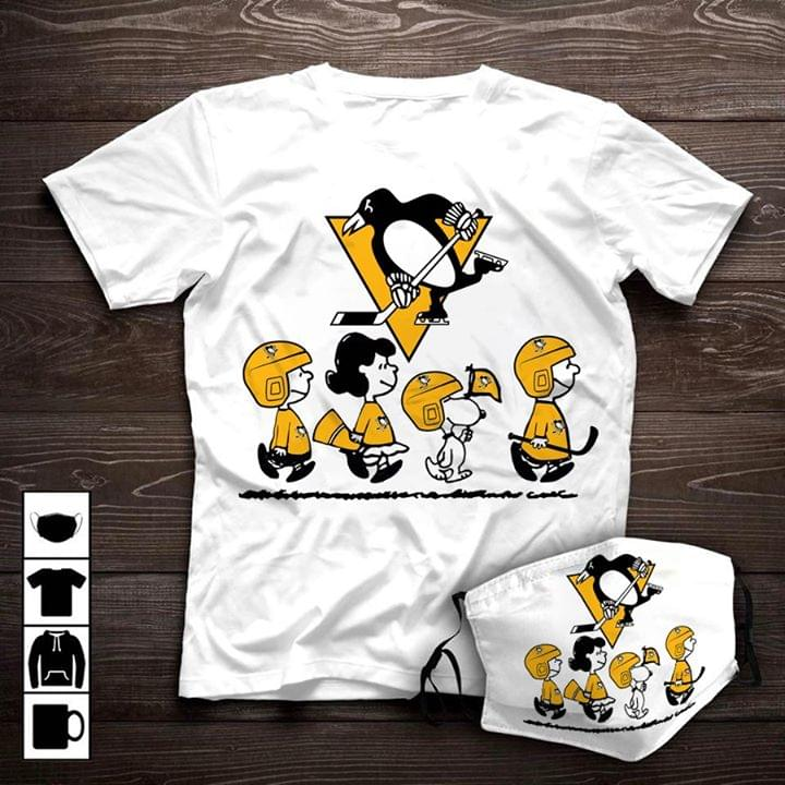 Pittsburgh Penguins Jersey Snoopy And Friends Peanuts For Hockey Fan cotton t-shirt Hoodie Mug