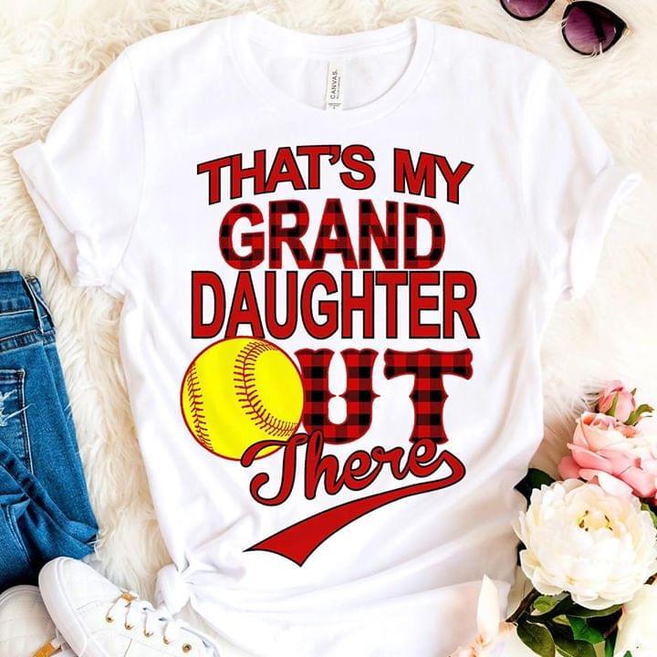 Baseball Thats My Granddaughter cotton t-shirt Hoodie Mug