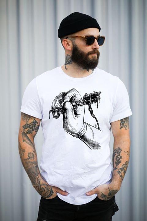 Tattoo Hand Machine For Tattoo Artist cotton t-shirt Hoodie Mug