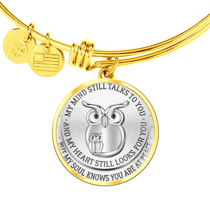 Mind Still Talks Heart Still Looks For But My Soul Know Youre At Peace Owl Necklace