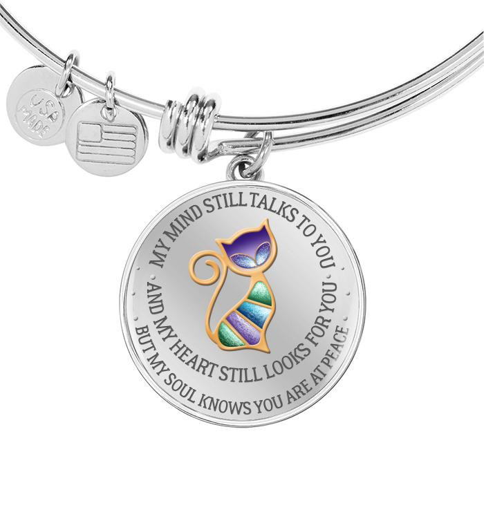 Mind Still Talks Hearst Still Looks For But Soul Know Youre At Peace Cat Necklace