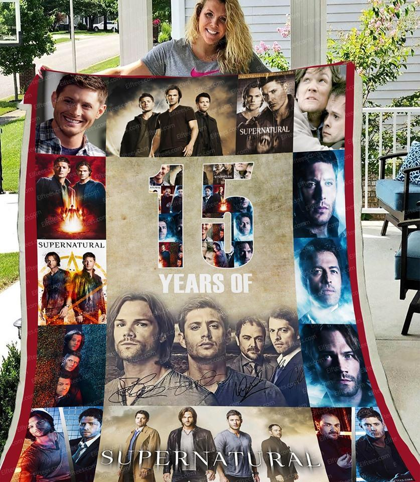 15 Years Of Supernatural Characters Signed Blanket
