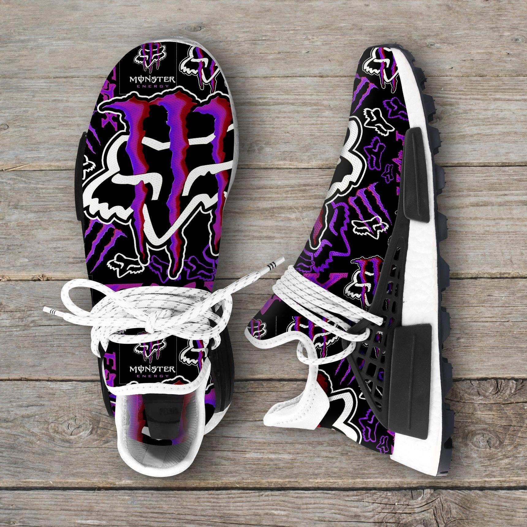 Monster Energy Purple Fox Racing Nmd Sneakers