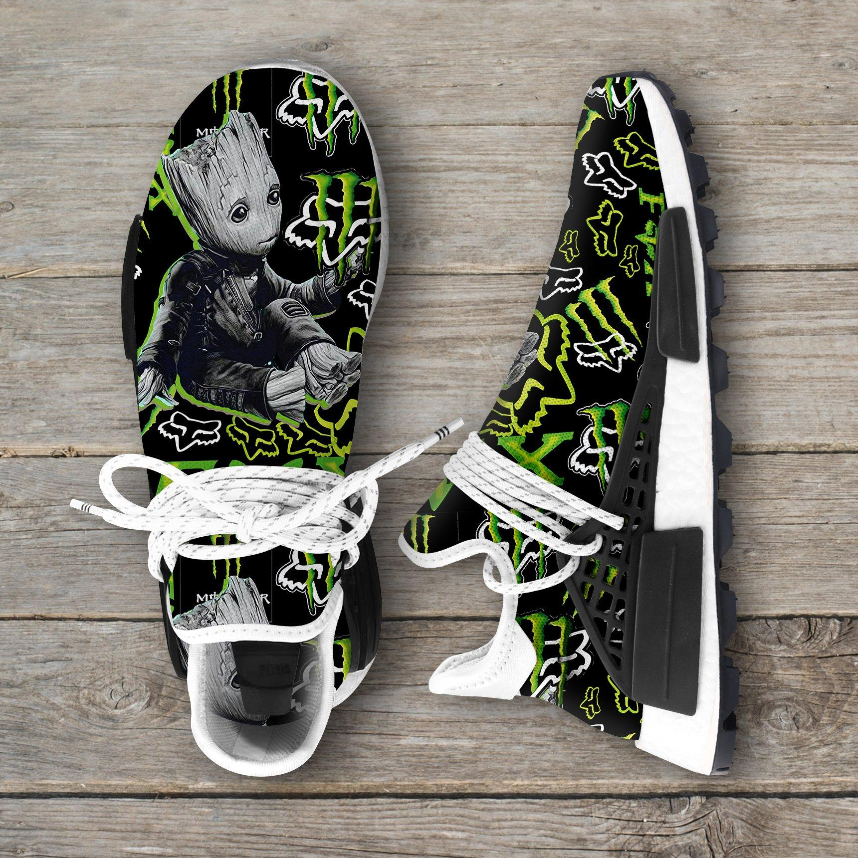 Groot Monster Energy Fox Racing Nmd Sneakers