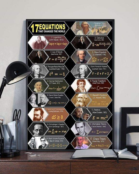 17 Equations Change The World Poster Canvas