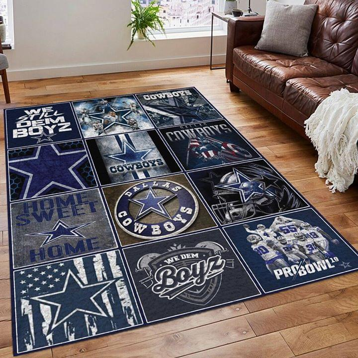 Dallas Cowboys Fan Living Room Rug