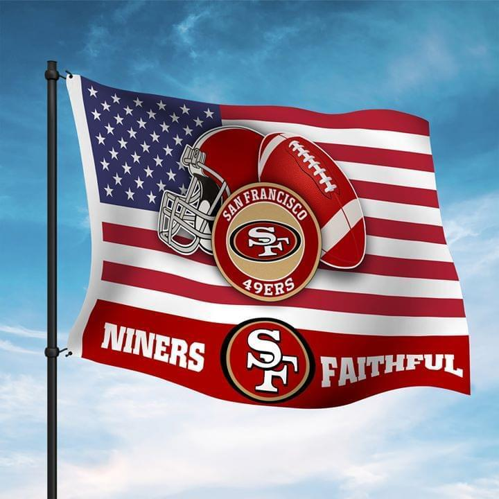 San Francisco 49ers Miners Faithful Fan American Flag