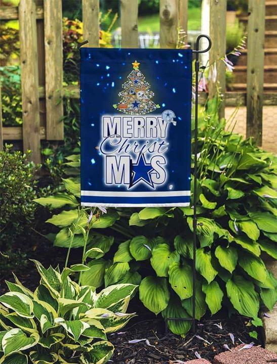 Merry Christmas Dallas Cowboys Grarden Flag