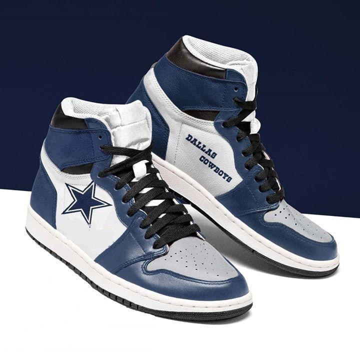 Dallas Cowboys Fan Customized Air Jordan Sneakers