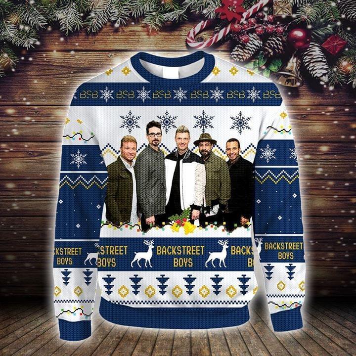 Backstreet Boys Christmas Knitting Pattern Fan Quilt Blanket Sweatshirt 3d