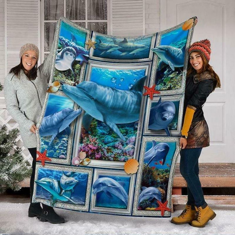 Dolphin 3d Picture Frames Version 2 60-102 Washable Poly Cotton Quilt 3 Sizes