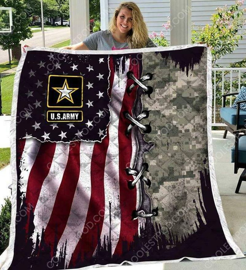 Us Army Us Flag 3d 60-102 Washable Preshrunk Quilt 3 Sizes