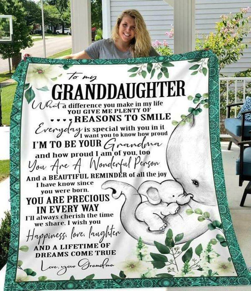 Elephant To My Granddaughter Im To Be Your Grandma How Proud Im Of You Quilt