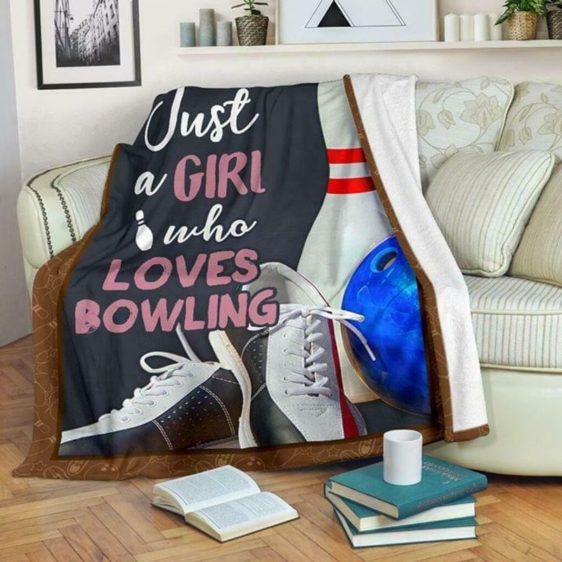 Just A Girl Who Loves Bowling 60-102 Washable Preshrunk Quilt 3 Sizes