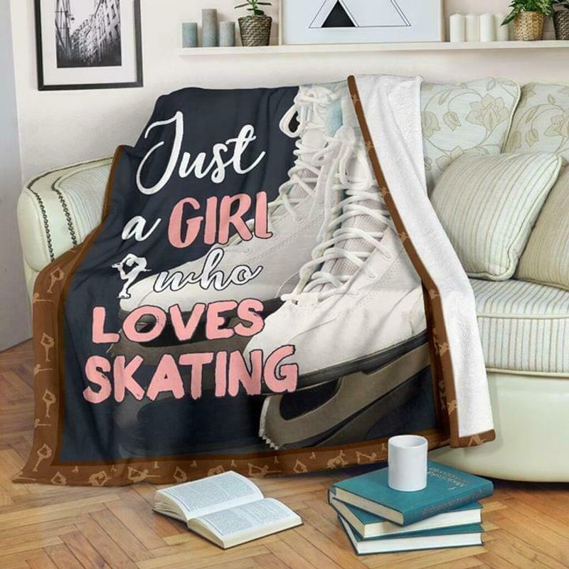 Just A Girl Who Loves Skating 60-102 Washable Preshrunk Poly Cotton Quilt