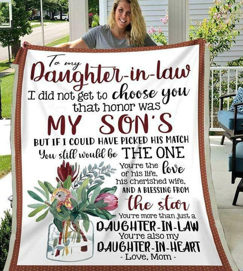 To My Daughter-in-law You Are Also My Daughter-in-heart Love Mom Quilt 3 Sizes