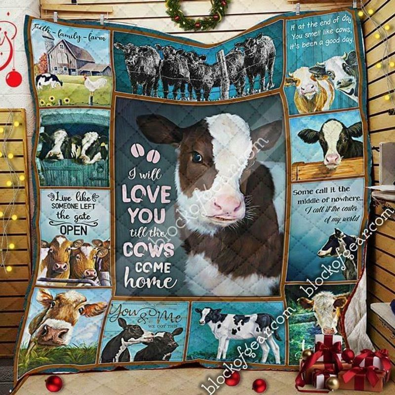 I Will Love You Till The Cows Come Home 100% Poly Cotton Quilt 3 Sizes