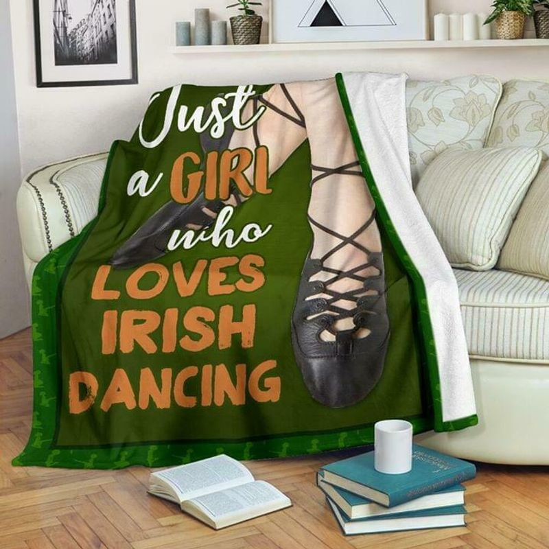 Just A Girl Who Loves Irish Dancing 60-102 Washable Poly Cotton Quilt