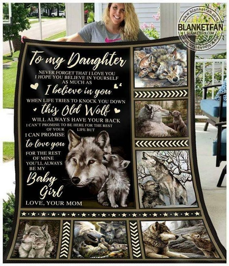 Wolf To My Daughter Never Forget That I Love You Love Your Mom Ver 2 Quilt