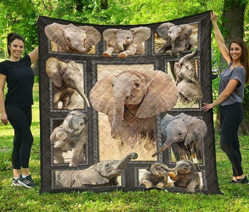 Elephant Collection Version 2 60-102 Washable Preshrunk Poly Cotton Quilt