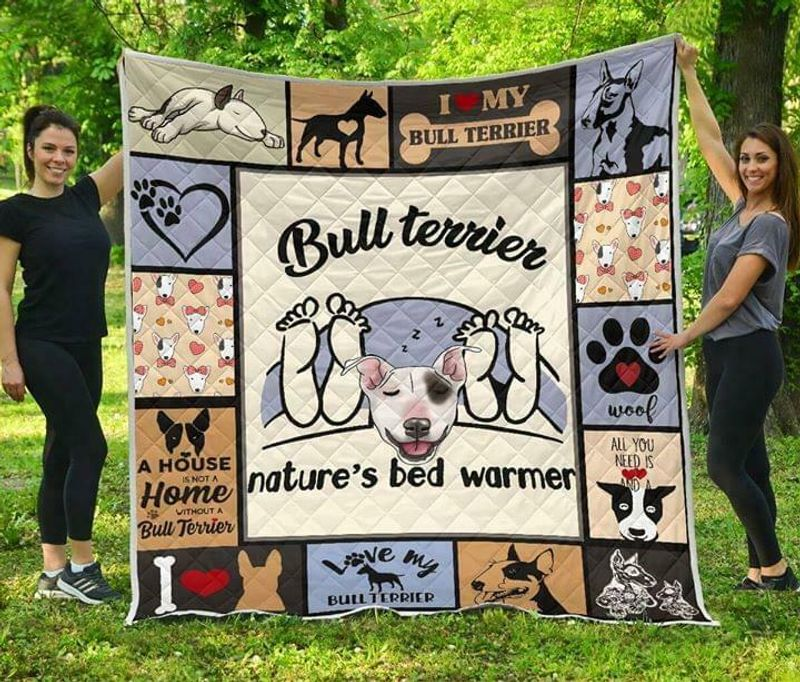 Bull Terrier Natures Bed Warmer Polycotton Quilt 3 Sizes