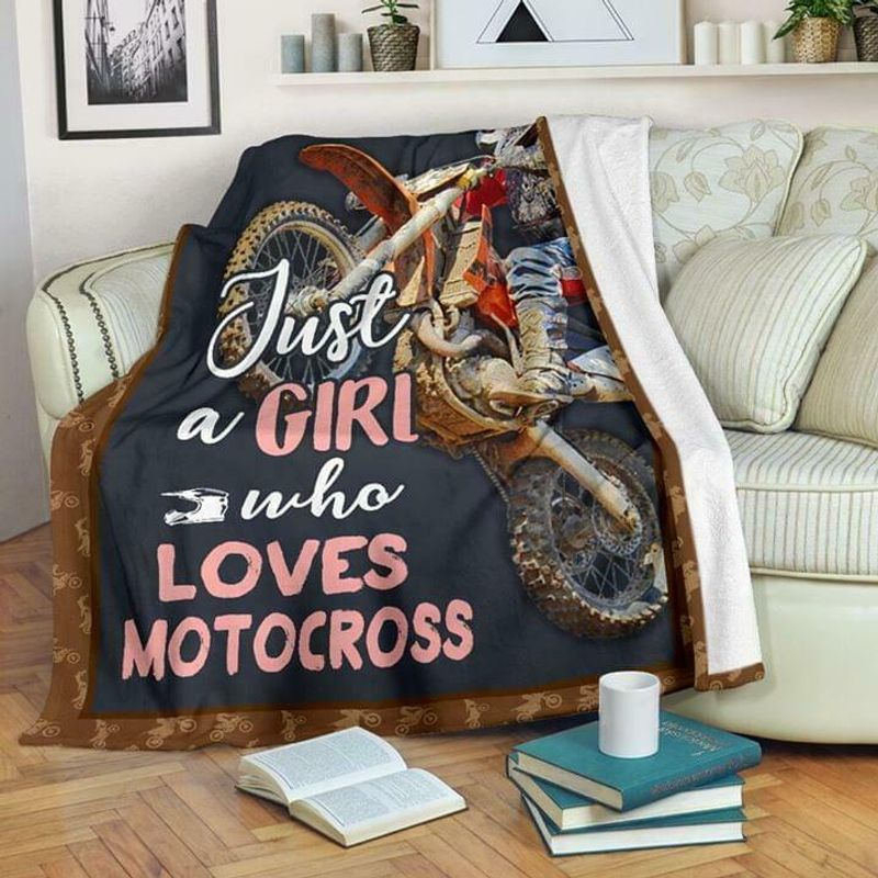 Just A Girl Who Loves Motocross 60-102 Washable Preshrunk Poly Cotton Quilt