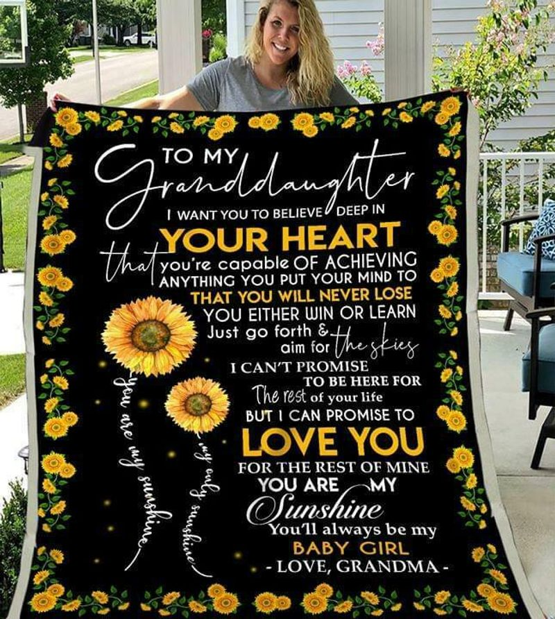 To My Granddaughter You Are Capable Of Achieving Anything Love Grandma Quilt